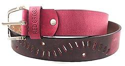 REDCROSS Men's Genuine Leather Belt(RCMB004_Red)