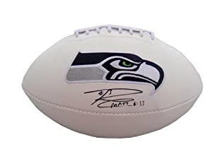 Russell Wilson Seattle Seahawks Signed Autographed Logo Football with Certificate of...