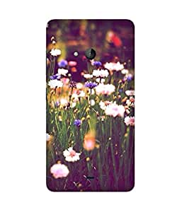 Flowers Garden Printed Back Cover Case For Microsoft Lumia N540
