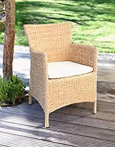 "'""Silla De Jardín Lounge exterior jardín Sillón Silla de muebles de jardín ratán."