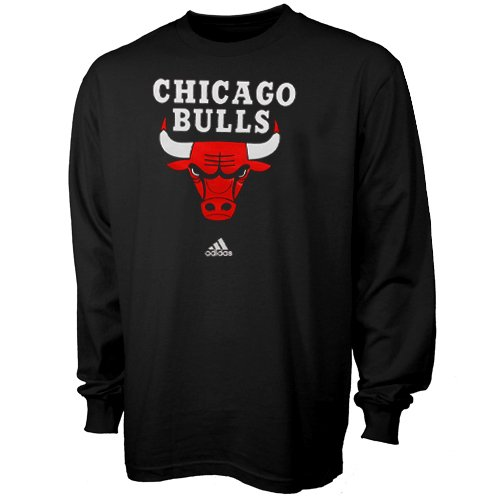 Chicago Bulls Black Primary Logo Long Sleeve T-Shirt Medium at Amazon.com