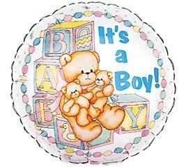 18 Inch Mylar Its a Boy Teddy Bear Balloon