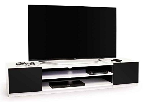 69 in. TV Stand in Black and White