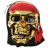Pirates of the Caribbean Mask Cosplay Props -Halloween Mask - DIY Cosplay Costume (Make Your Halloween Mask Outstanding) for Halloween, Cosplay, Prom, Night Party (Gold Mask)