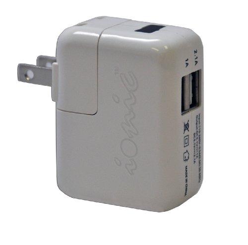 CrazyOnDigital White Apple iPad Dual USB Home Travel Charger from CrazyOnDigital LLC
