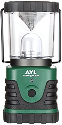 AYL StarLight - Water Resistant - Shock Proof - Battery Powered Ultra Long Lasting Up To 6 DAYS Straight - 600 Lumens Ultra Bright LED Lantern - Perfect Camping Lantern for Hiking, Camping, Emergencies, Hurricanes, Outages