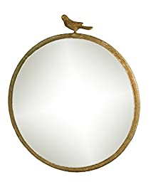 Rustic Chick Round Mirror with Bird - 18\