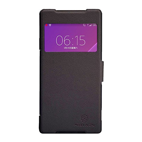 Nilkin Nillkin Fresh Style Ultra Thin S-View Mix Flip Pu Leather Cover Hard Case For Sony Xperia Z2 - Retail Packaging - Black