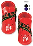 M.A.R International Ltd Dipped Foam Foot Protector Kick Boots Martial Arts Karate Taekwondo Boxing Kickboxing Thai Boxing Mma Muay Thai Red Medium