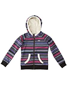 Roxy Mädchen Kaputzen Fleece Sweatshirt Winter Island Zip, mul strype snow, 128 / 8 Jahre, WPTSW063-004-128 / 8 Jahre