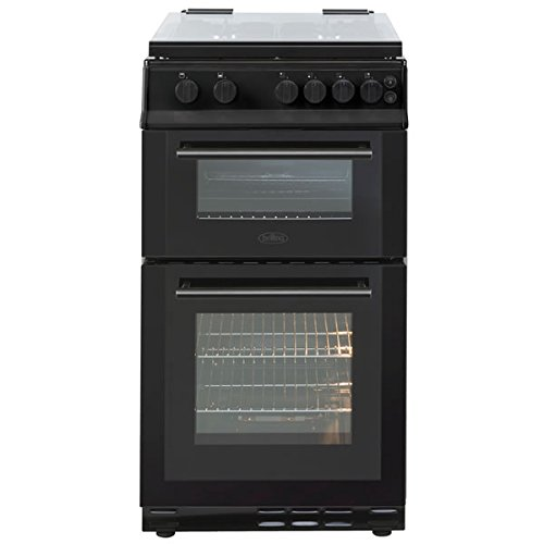 Belling FS50GTCLB 500mm Twin Cavity Gas Cooker 4 x Burner Gas Hob Black