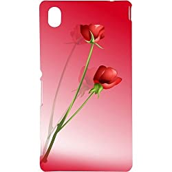 Casotec Red Roses Design Hard Back Case Cover for Sony Xperia M4 Aqua