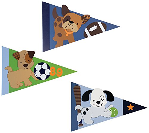 Lambs & Ivy Bow Wow Buddies Wall Decor, Pennant - 1