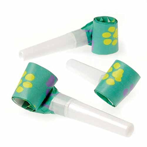 Dozen Paw Print Theme Blowout Blower Noisemakers - 1