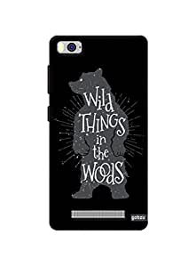 Gobzu Printed Hard Case Back Cover for Xiaomi Mi 4i - Wild Things