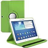 kwmobile® 360° Premium KUNSTLEDERTASCHE für Samsung Galaxy Tab 3 10.1 P5200 / P5210 / P5220 in Grün mit praktischer Ständerfunktion und Auto Sleep / Wake Up Funktion