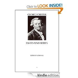 Essays und Reden (German Edition) Georg Forster