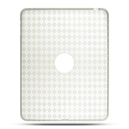 Premium TPU Flexi Soft Gel Skin for Apple iPad 16GB, 32GB, 64GB Wi-Fi and WiFi + 3G, Flexible See Thru Skin with Clear Checkers Plaid Print
