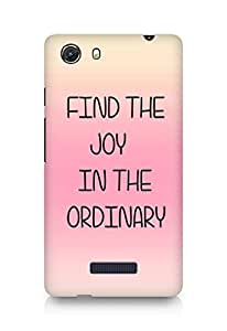 AMEZ find the joy in the ordinary Back Cover For Micromax Unite 3