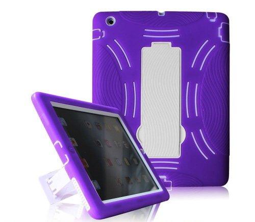 Find Bargain Dynamic Buddy iPad Kickstand Case - Dual Layer Heavy Duty Hard Soft Combo Hybrid Kickst...