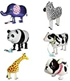 Amazon.co.jpSignstek ウォーキング 動物アルミバルーン 6種類セット  誕生日 パーティー装飾や子供のプレゼントに最高 (ホワイト)
