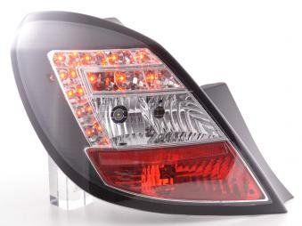 Led Taillights Opel Corsa D 5-Door Yr. 06-10 Black