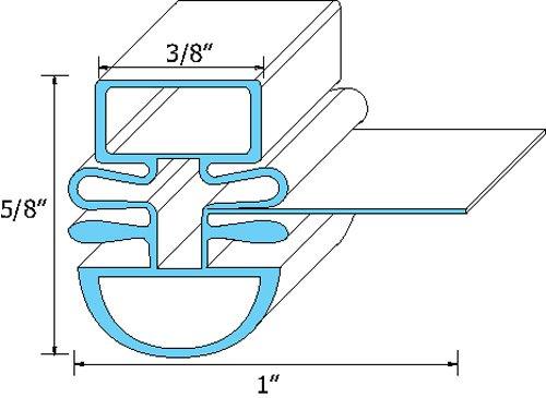 Turbo Air Magnetic Dart Mount Door Gasket R3903-354 front-603529