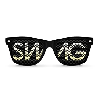 Amazon.com: SWAG Black Retro Party Sunglasses: Clothing