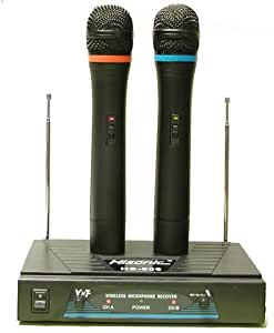 hisonic hs909 dual vhf wireless microphone system musical instruments. Black Bedroom Furniture Sets. Home Design Ideas