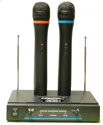 Hisonic Hs909 Dual Vhf Wireless Microphone System