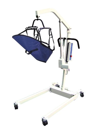 Drive Medical Bariatric Electric Patient Lift With Rechargeable Battery And Six Point Cradle, White