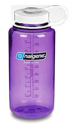 Nalgene Wide Mouth Tritan Water Bottle W/White Lid - 32 Oz - O/S - Purple front-443365