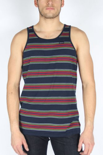 Brixton - Mens Sherman Tank Top In Navy, Size: XX-Large, Color: Navy