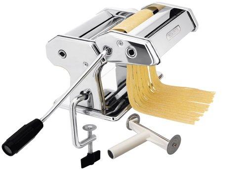 Italia Nudelmaschine, Spaghetti-Maschine, Handbetrieb mit Vorrichtung zur Tischbefestigung, im Geschenkkarton