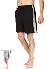 2 Pack Pure Cotton Drawstring Waist Shorts