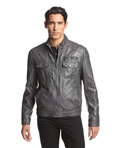 Kenneth Cole Men's Faux Leather Moto Jacket