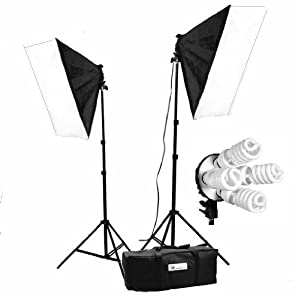 CanadianStudio 1600 W Video Photo Studio lighting Softbox light kit with 2 light stands, 8 5500K light bulbs, 2 softboxes and carrying case-FREE SHIPPING FROM CANADA