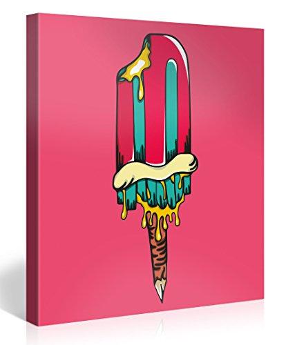 Gallery of Innovative Art - Pink Ice Pop Art 80x80cm - Modern Art Leinwanddruck, Wandbilder, Kunstdrucke als Leinwandbild - Neu und Aufgespannt auf Keilrahmen - XXL Bilder Dekoration für Zuhause