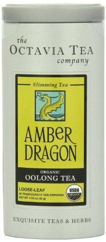 Octavia Tea Amber Dragon  Loose Tea, 1.52 Ounce Tin