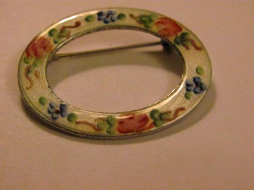 Vintage - LAMODE - STERLING Enameled PIN - Jewelry