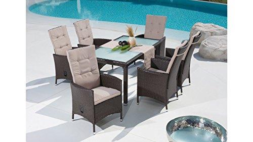baumarkt-direkt-13-tlg-Gartenmbelset-Madeira-6-Sessel-Tisch-1485x845-Polyrattan-braun-verstellbar-braun