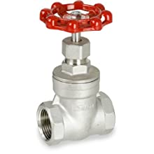 Sharpe Valves 30276 Series Stainless Steel 316 Gate Valve, Class 200, Non-Rising Stem, Inline, NPT Female