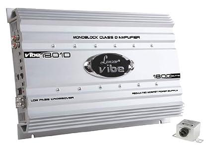 Lanzar VIBE1801D Amplificateur numérique monobloc à Mosfet pour voiture 1800W