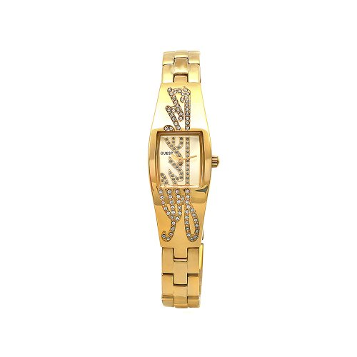 GUESS Women's W11136L1 Signature Goldtone Stainless Steel Crystal Accent Watch