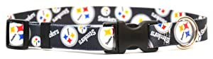 Yellow Dog Design Pittsburgh Steelers Licensed NFL Dog Collar at Steeler Mania