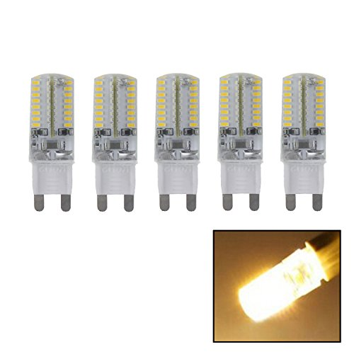 Yaho-Mall 5Pcs Ac 220V 3W G9 3014 Smd 64 Led Spot Light Bulb Lamp Energy Saving 5-In-1 Kit (Warm White Ww-5)