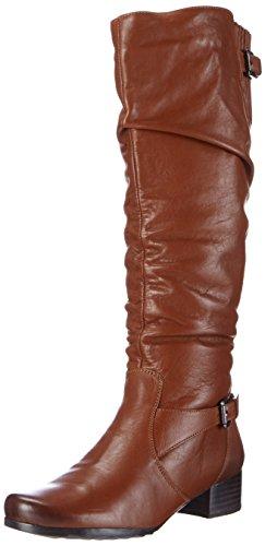 Marc ShoesMadina - Stivaletti a gamba lunga mod. Classics, imbottitura pesante donna , Marrone (Braun (brandy 350)), 40