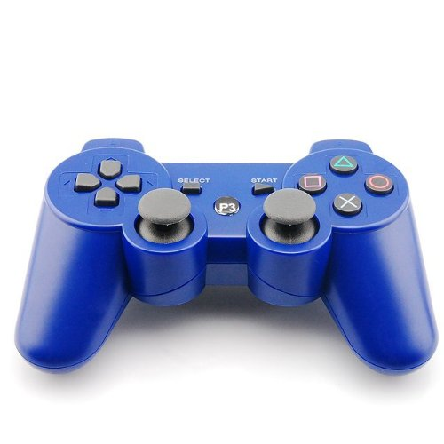 Buy Discount Goliton®New Blue Dual Shock Wireless Bluetooth Game Controller For Sony Playstation PS...