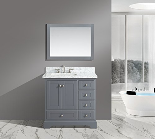"Find Cheap UrbanFurnishing.net - Jocelyn 36-Inch (36"") Bathroom Sink Vanity Set with White Ital..."