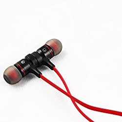 AWEI A920BL Wireless Outdoor Smart [ Stereo Earphones ] For Sports With [ Explosive Bass ] and [ Intelligent Noise Reduction ] - Red